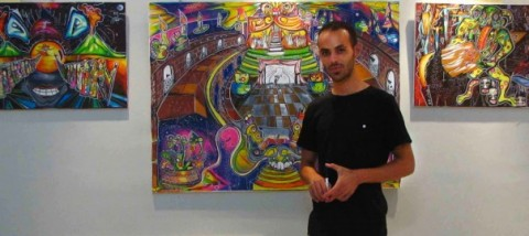 گفتوگو با مهدی فضلی درباره نقاشیهای فی البداهه اش