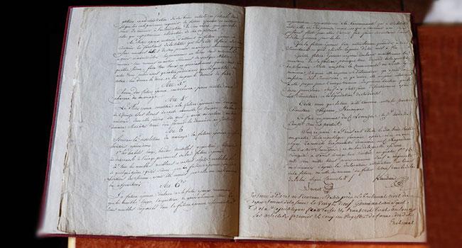 سند ازدواج ناپلئون و ژوزفین