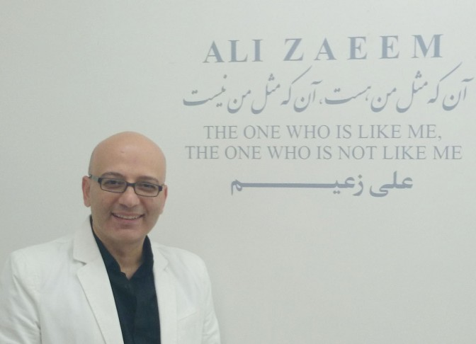 چکیدهی گفت و گو با علی زعیم درباره آثارش در گالری اعتماد دو