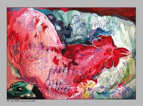 نمایشگاه آثار لیلا فلاح در گالری مهروا
