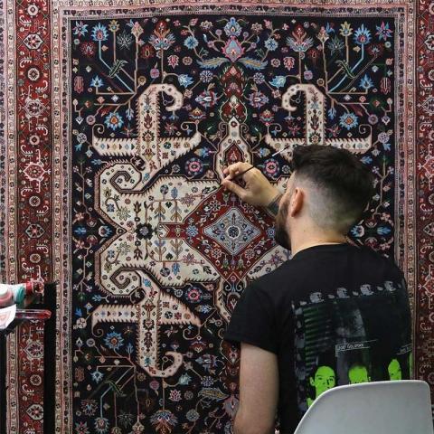 نقاشی فرش های جیسون سیفی