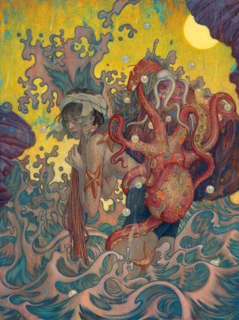 """نقاشی """"آما دایور"""" اثری بی نظیر از JAMES JEAN"""