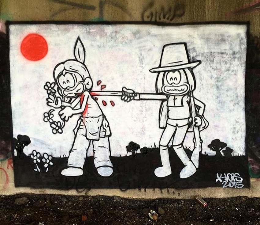 گرافیتی برای روز شکرگزاری
