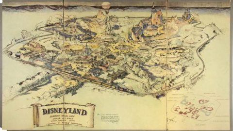 رکورد نقشه قدیمی دیزنیلند در حراجی