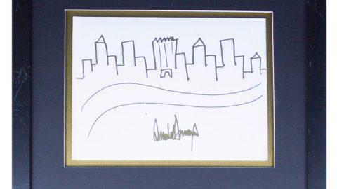 طراحی دونالد ترامپ ۲۹ هزار دلار فروش رفت