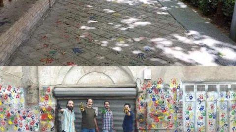 دست های دردسر ساز روی دیوارهای تاریخی اصفهان