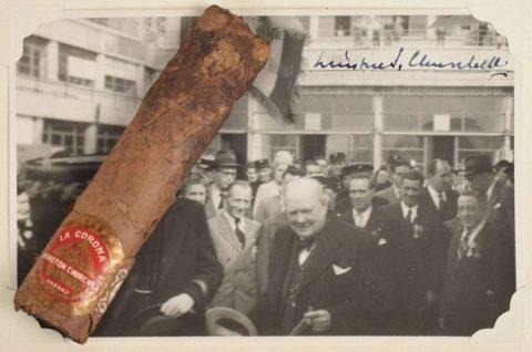 حراج سیگار ناتمام وینستون چرچیل در بوستون