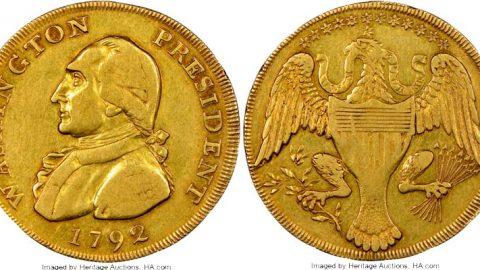 نخستین طرح سکه ضرابخانه امریکا حراج شد