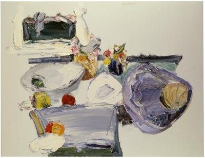 اثری نقاشی از منوچهر یکتایی مربوط به دهه هشتاد میلادی