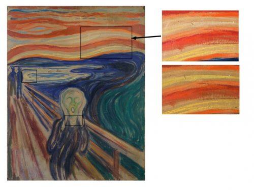 مستطیل های موجود در نقاشی نواحی با رنگ محو شده را نشان می دهد