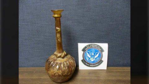 یک ظرف عتیقه ایرانی در کمرگ امریکا کشف و ضبط شد