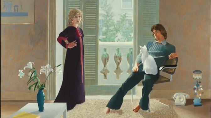 تحلیل نقاشی آقا و خانم کلارک و پرسی اثر دیوید هاکنی با رویکرد آیکونولوژی