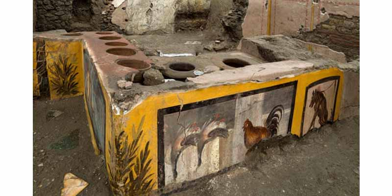 رستوران فست فود باستانی پمپئی یافت شد