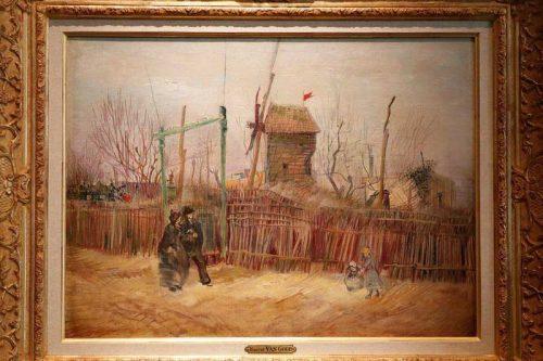 """ونسان ون گوگ هنرمند هلندی این اثر به نام """"منظره خیابان در مونمارت"""" را در سال ۱۸۸۷ در پیرامون شهر پاریس آفریده بود."""