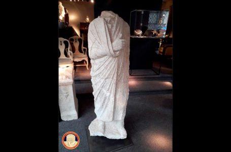 تندیس کهن رومی از عتیقه فروشی بلژیکی سر درآورد!